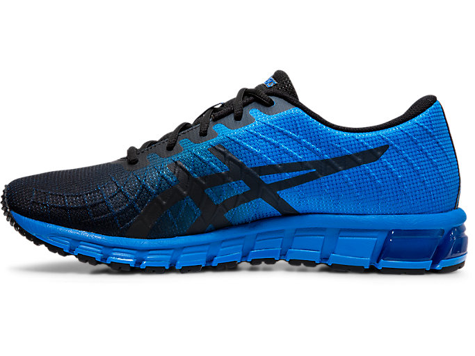 Left side view of GEL-QUANTUM 180™ 4, ELECTRIC BLUE/BLACK