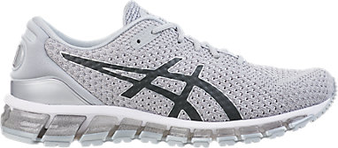ASICS GEL QUANTUM 360 Knit 2 II Silver Dark Grey Men Running Shoes 1021A121 020