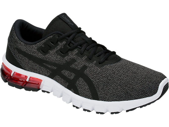 Front Right view of GEL-QUANTUM, DARK GREY/BLACK