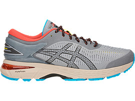 GEL-KAYANO 25 RE, STONE GREY/BLACK