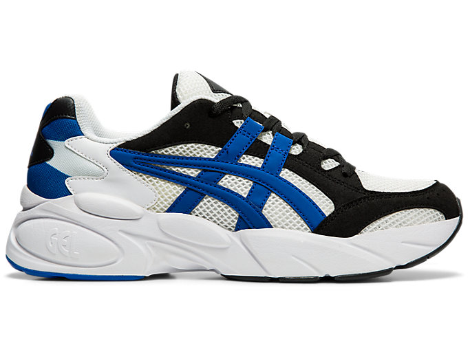 Right side view of GEL-BND, WHITE/ASICS BLUE