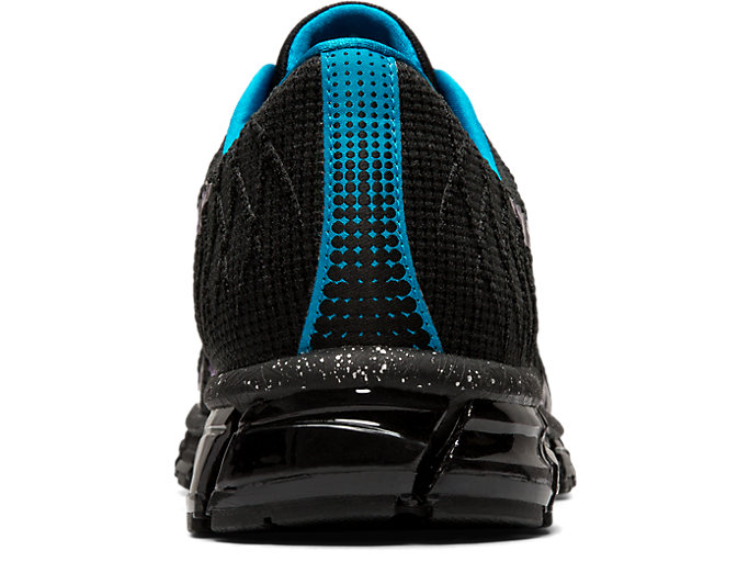 Back view of GEL-QUANTUM 180 4, BLACK/ISLAND BLUE