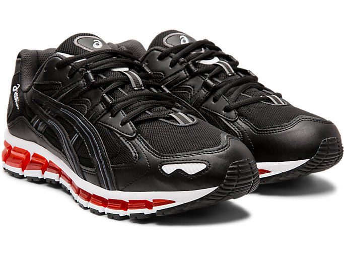 Front Right view of GEL-KAYANO 5 360, BLACK/BLACK