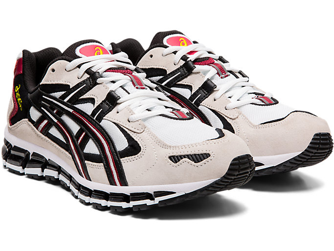 Front Right view of GEL-KAYANO™ 5 360, WHITE/BLACK