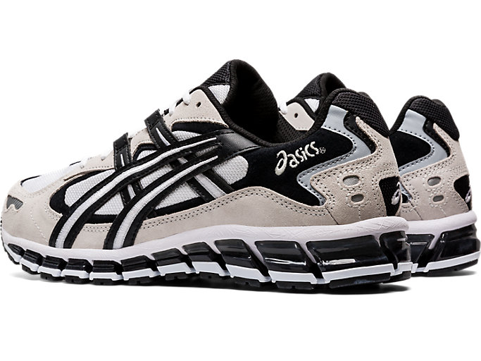 Front Left view of GEL-KAYANO 5 360, WHITE/BLACK