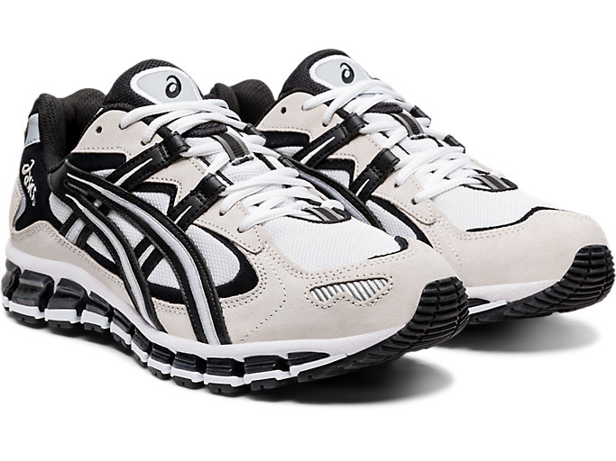 Front Right view of GEL-KAYANO 5 360, WHITE/BLACK