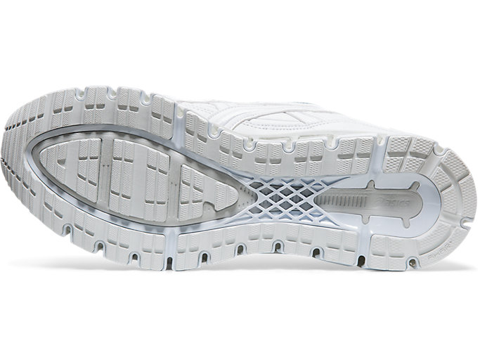 Bottom view of GEL-KAYANO 5 360, WHITE/WHITE