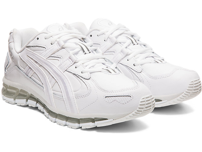 Front Right view of GEL-KAYANO 5 360, WHITE/WHITE