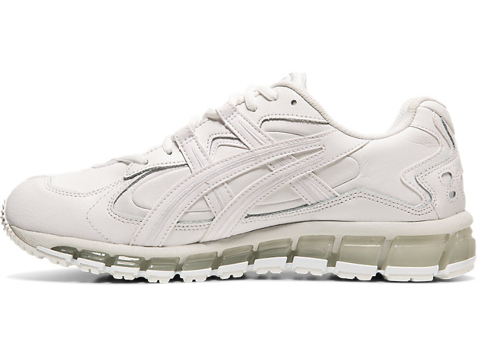 Left side view of GEL-KAYANO 5 360, WHITE/WHITE