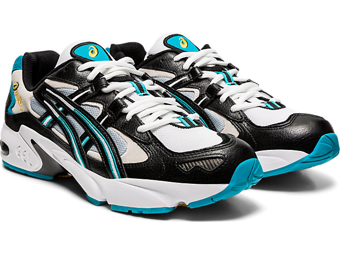 Front Right view of GEL-KAYANO 5 OG, BLACK/WHITE