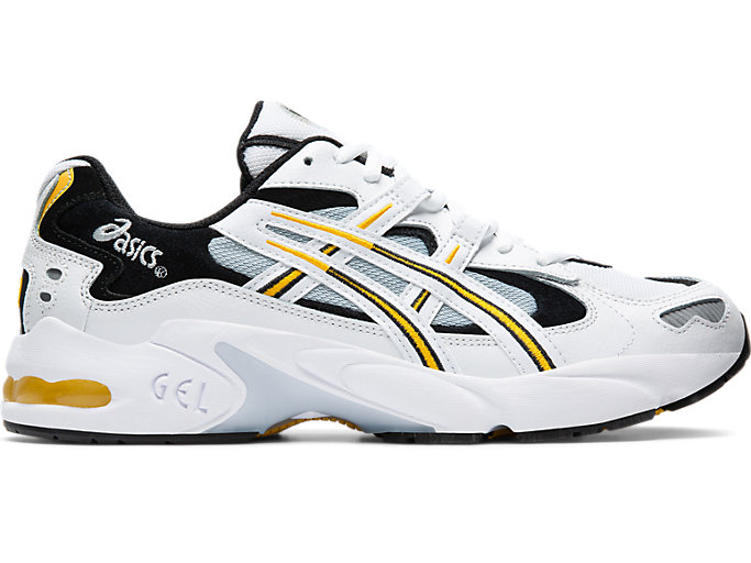 Right side view of GEL-KAYANO™ 5 OG, WHITE/SAFFRON