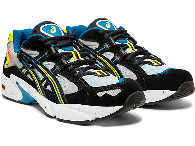Front Right view of GEL-KAYANO™ 5 OG, PIEDMONT GREY/BLACK