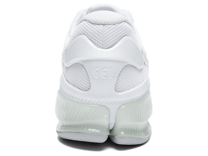 Back view of GEL-QUANTUM INFINITY JIN, WHITE/WHITE