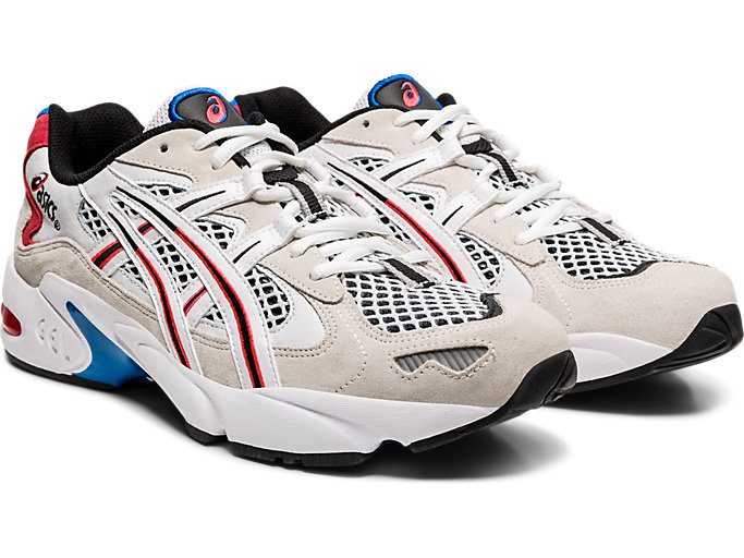 Front Right view of GEL-KAYANO 5 OG, WHITE/DIVA PINK