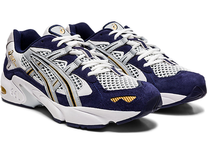 Front Right view of GEL-KAYANO 5 OG, PEACOAT/PIEDMONT GREY