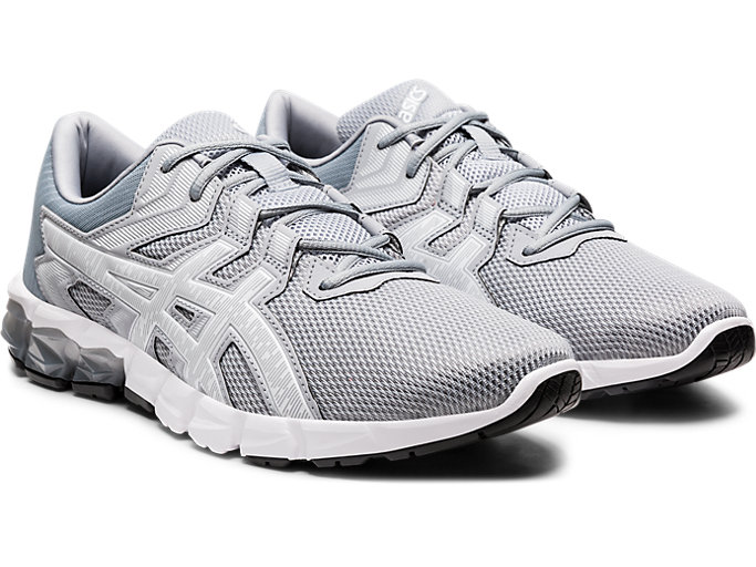 Front Right view of GEL-QUANTUM 90™ 2, PIEDMONT GREY/WHITE