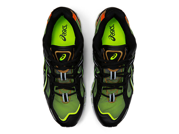 Top view of GEL-KAYANO 5 360, BLACK/SAFETY YELLOW