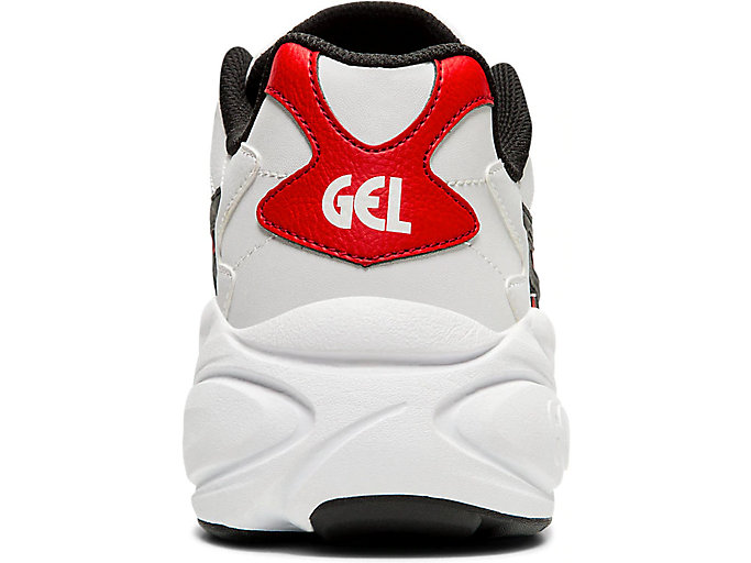 Back view of GEL-BND, WHITE/CLASSIC RED
