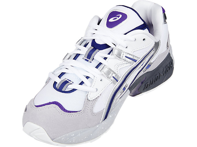 Front Left view of GEL-KAYANO™ 5 OG, SILVER/WHITE