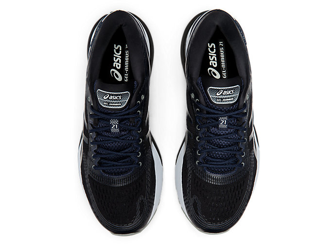 Top view of GEL-NIMBUS 21, PERFORMANCE BLACK/MIDNIGHT