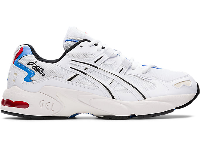 Right side view of GEL-KAYANO 5 OG, WHITE/WHITE
