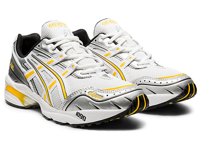 Front Right view of GEL-1090, WHITE/SAFFRON