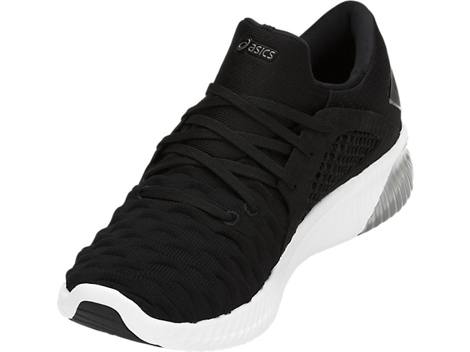 Front Left view of GEL-KENUN KNIT, BLACK/BLACK