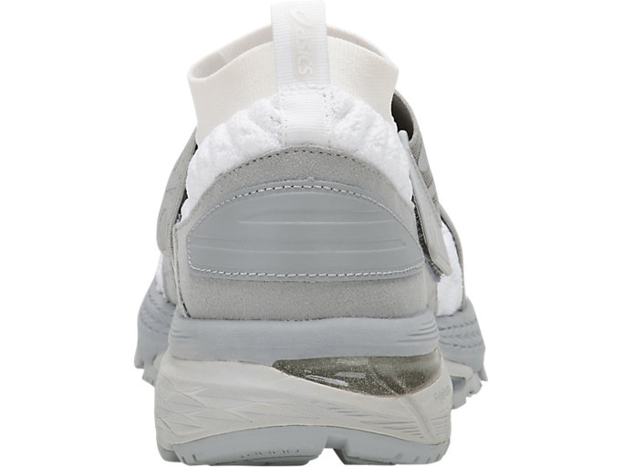 Back view of GEL-KAYANO 25 OBI, WHITE/MID GREY