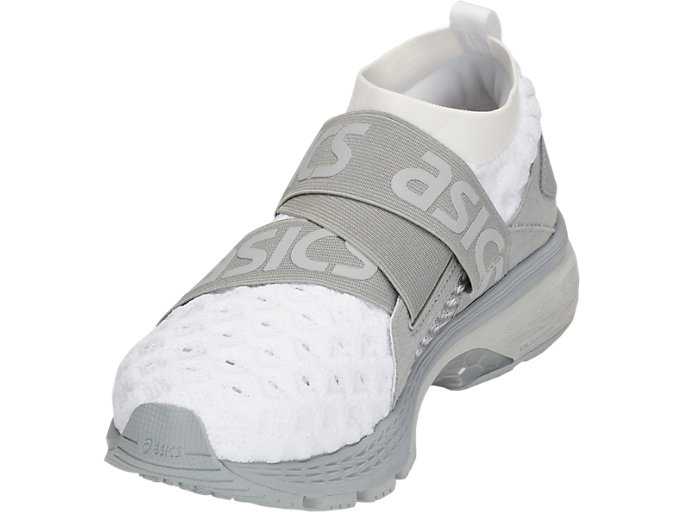 Front Left view of GEL-KAYANO 25 OBI, WHITE/MID GREY