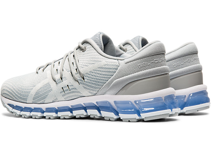 Front Left view of GEL-QUANTUM 360 4, MID GREY/GLACIER GREY