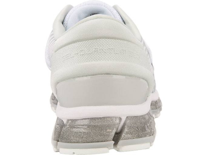 Back view of GEL-QUANTUM 360 4, WHITE/MID GREY