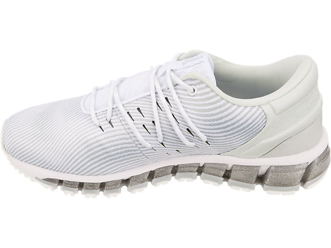 Left side view of GEL-QUANTUM 360 4, WHITE/MID GREY