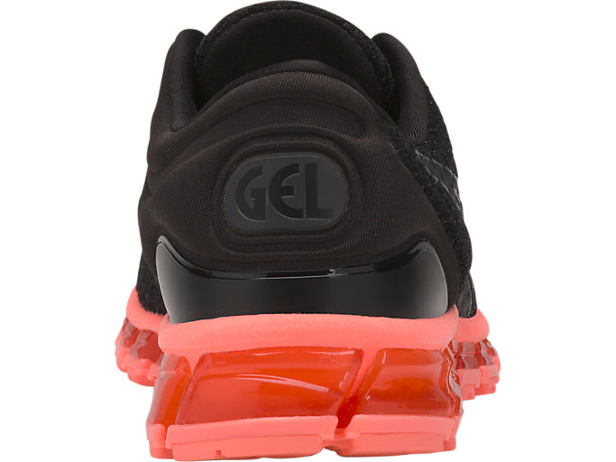 Back view of GEL-QUANTUM 360 KNIT 2, BLACK/SUNCORAL