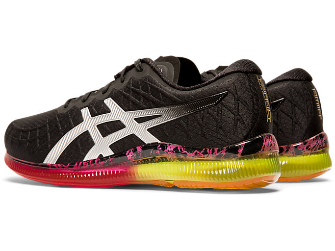 Front Left view of GEL-QUANTUM INFINITY, BLACK/SILVER