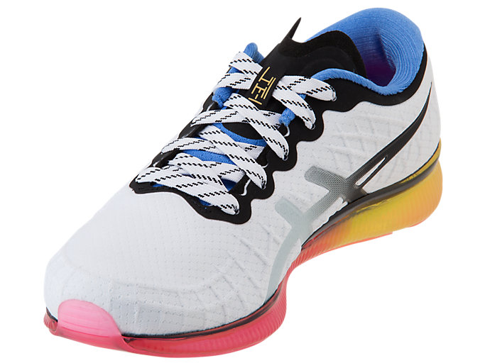 Front Left view of GEL-QUANTUM™ INFINITY, WHITE/BLUE COAST