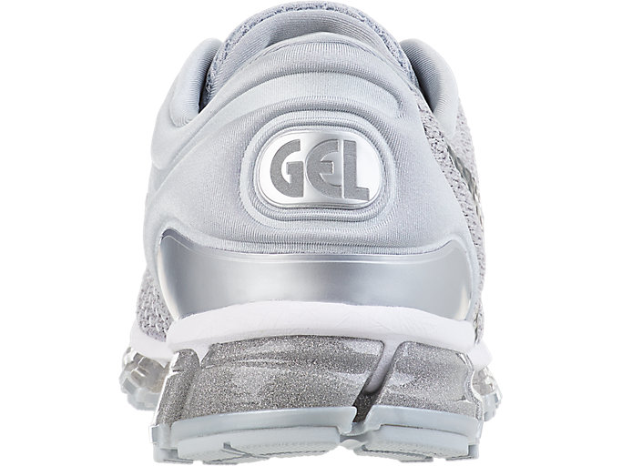 Back view of GEL-QUANTUM 360 KNIT 2, SILVER/DARK GREY