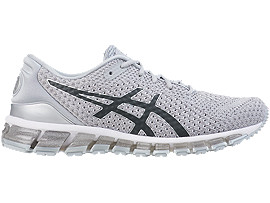 Right side view of GEL-QUANTUM 360 KNIT 2, SILVER/DARK GREY