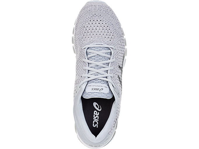 Top view of GEL-QUANTUM 360 KNIT 2, SILVER/DARK GREY