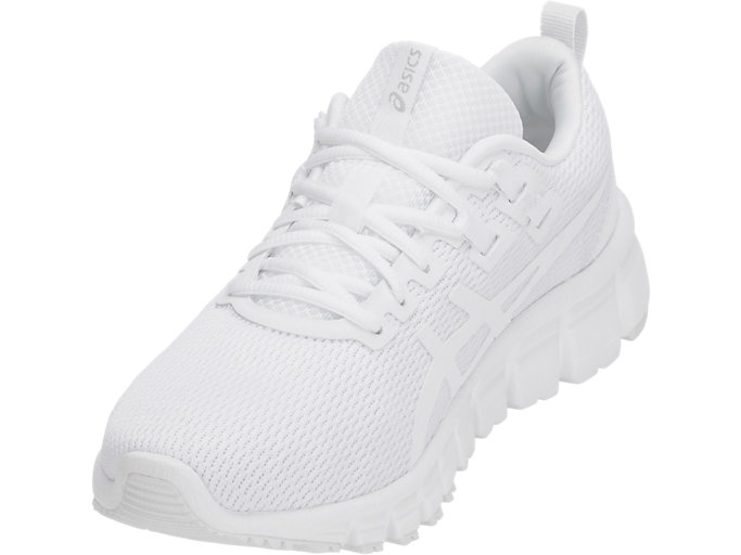 Front Left view of GEL-QUANTUM, WHITE/WHITE