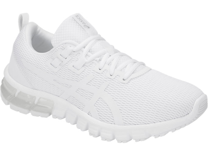 Front Right view of GEL-QUANTUM, WHITE/WHITE