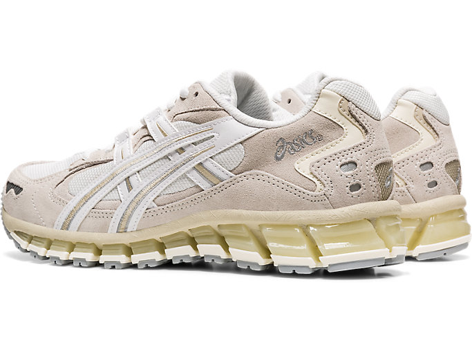 Front Left view of GEL-KAYANO 5 360, WHITE/CREAM