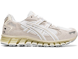 Right side view of GEL-KAYANO 5 360, WHITE/CREAM