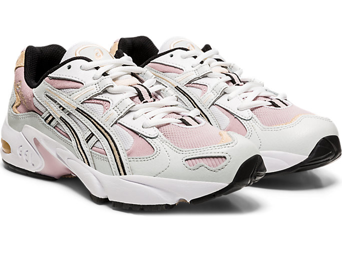 Front Right view of GEL-KAYANO 5 OG, POLAR SHADE/WATERSHED ROSE