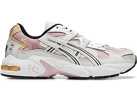 Right side view of GEL-KAYANO 5 OG, POLAR SHADE/WATERSHED ROSE