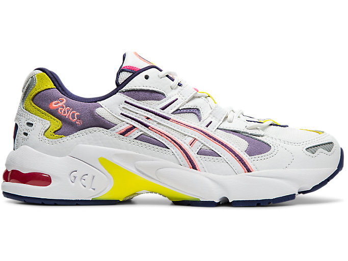 Right side view of GEL-KAYANO™ 5 OG, WHITE/PURPLE MATTE