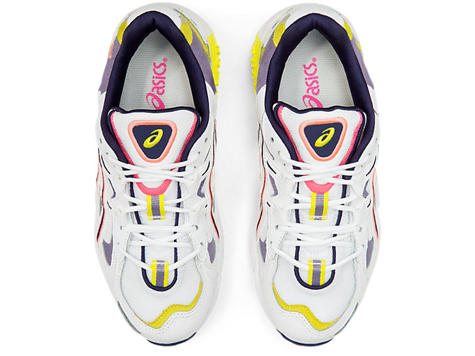 Top view of GEL-KAYANO™ 5 OG, WHITE/PURPLE MATTE