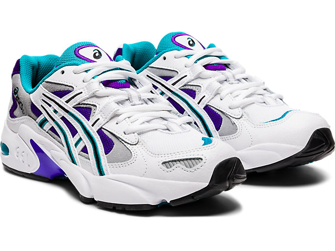 Front Right view of GEL-KAYANO 5 OG, WHITE/ROYAL AZEL