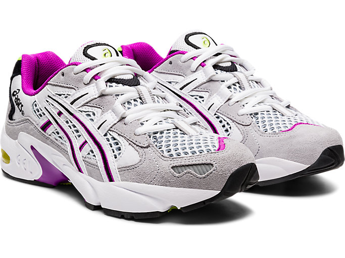 Front Right view of GEL-KAYANO 5 OG, PIEDMONT GREY/WHITE