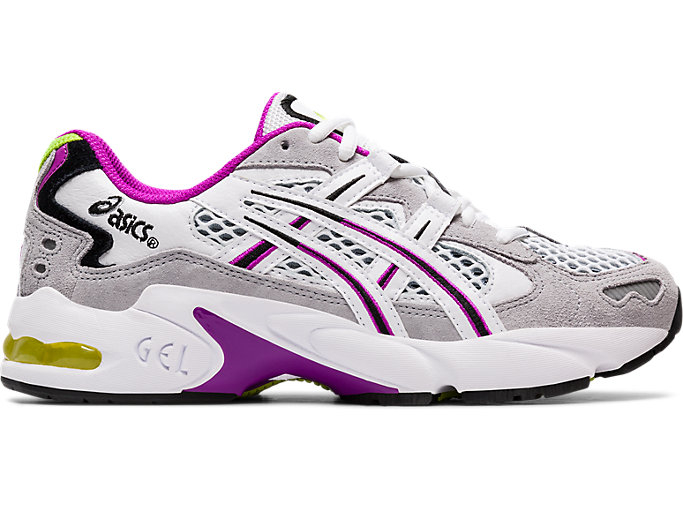 Right side view of GEL-KAYANO 5 OG, PIEDMONT GREY/WHITE