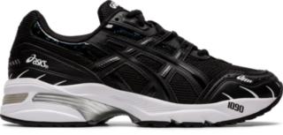 womens black asics running shoes